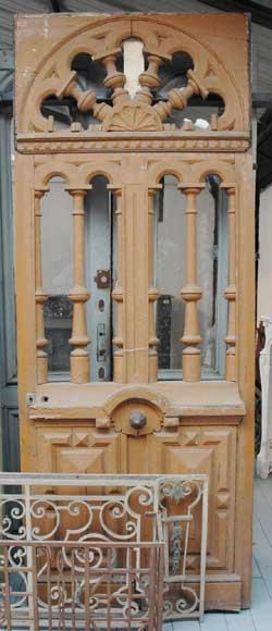 Porte d 39 entr e avec d cor en fen tre portes - Porte d entree avec fenetre ...