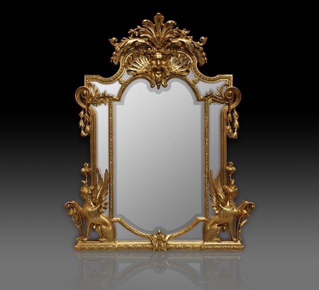 Miroir dor napol on iii aux sphinges et satyre glaces for Miroir napoleon