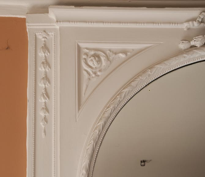 trumeau ancien de style louis xvi miroir cintr glaces miroirs et trumeaux. Black Bedroom Furniture Sets. Home Design Ideas