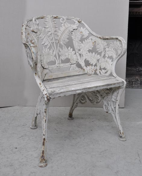 rare salon de jardin ancien en fonte de fer mod le. Black Bedroom Furniture Sets. Home Design Ideas