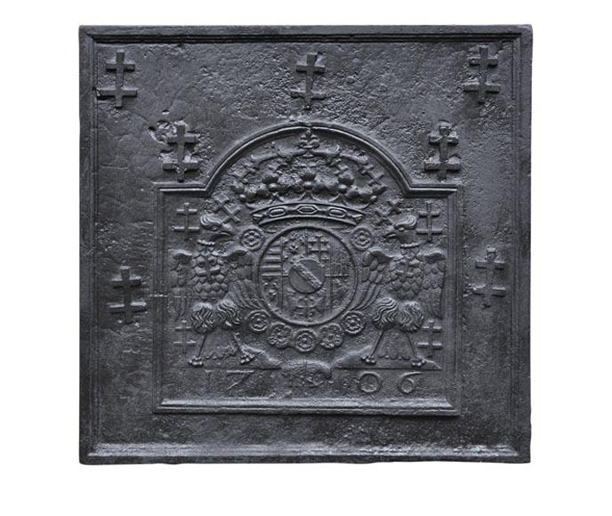 plaque de chemin e ancienne aux armes de lorraine agr ment de croix de lorraine et d 39 aigles. Black Bedroom Furniture Sets. Home Design Ideas