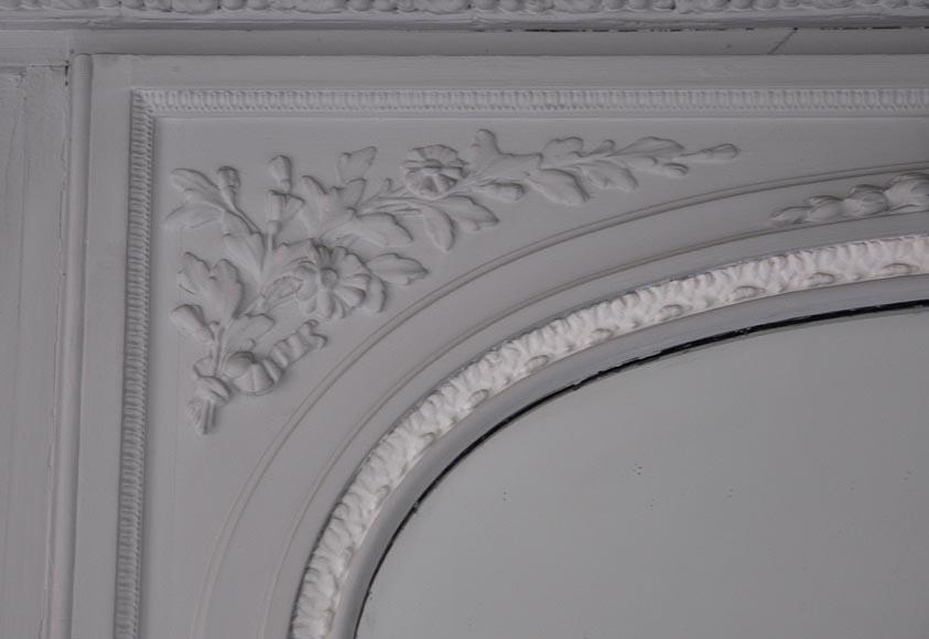 Trumeau ancien de style louis xvi peint glaces miroirs for Miroir trumeau ancien
