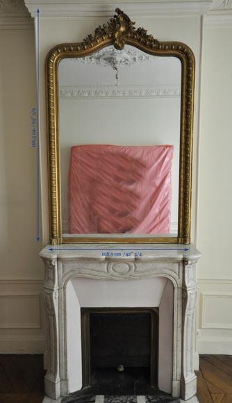 trumeau ancien de style louis xv coquille rocaille glaces miroirs et trumeaux. Black Bedroom Furniture Sets. Home Design Ideas