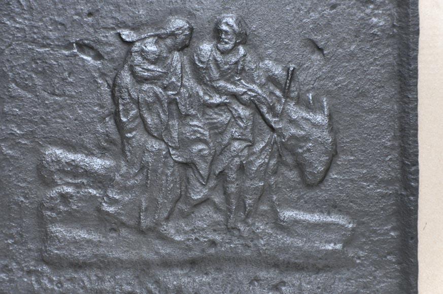 La fuite en egypte plaque de chemin e en fonte du xixe - Plaque de cheminee en fonte le bon coin ...
