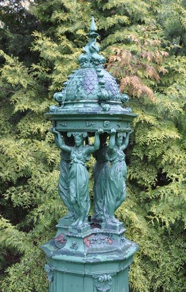 rare fontaine wallace fontaine en fonte de fer fontaines bassins et puits. Black Bedroom Furniture Sets. Home Design Ideas