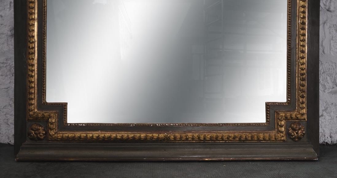 Grand trumeau ancien de style louis xvi en bois sculpt for Miroir trumeau ancien