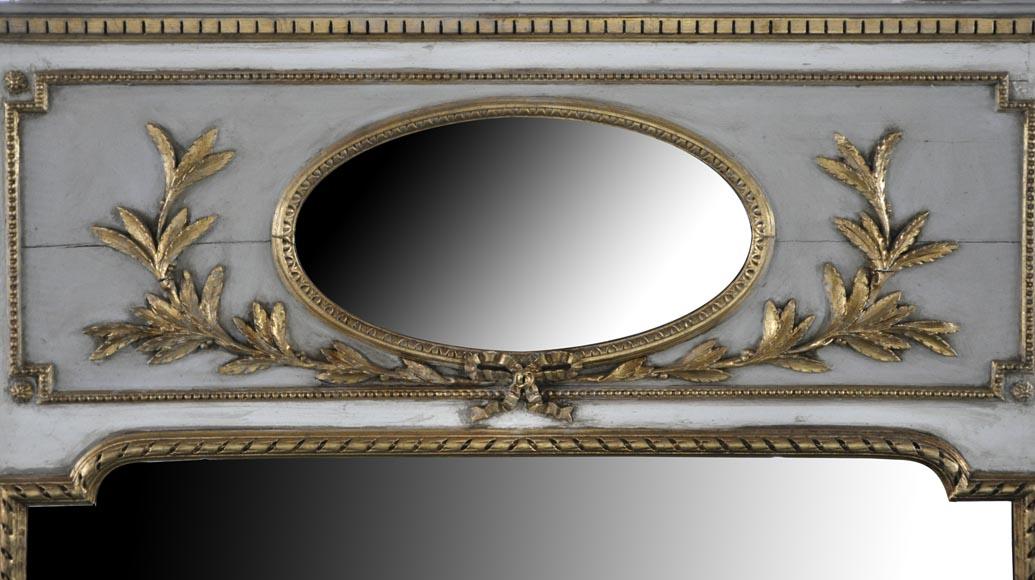 trumeau ancien de style louis xvi en bois sculpt deux miroirs glaces miroirs et trumeaux. Black Bedroom Furniture Sets. Home Design Ideas