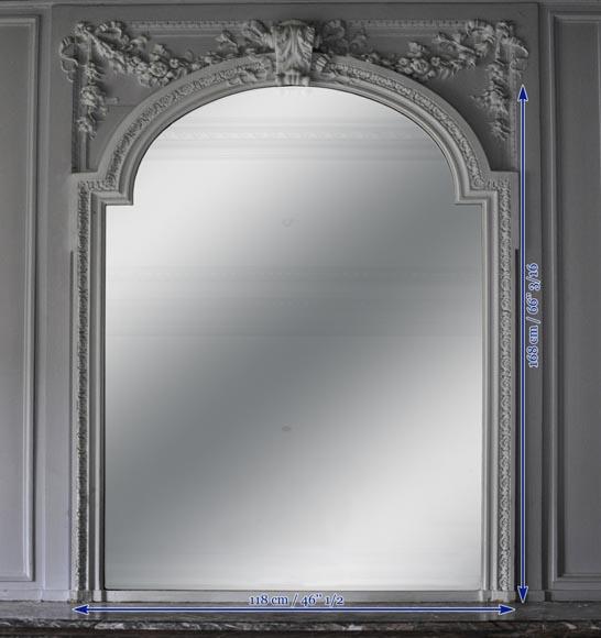 Trumeau ancien de style napol on iii xix si cle glaces for Miroir trumeau ancien