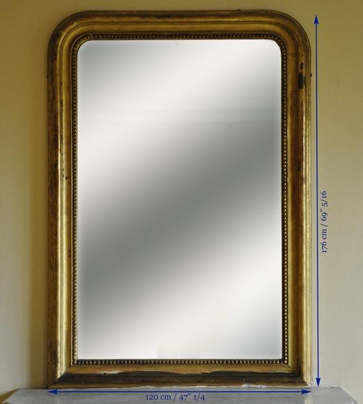 trumeau ancien de style louis philippe d cor perl glaces miroirs et trumeaux. Black Bedroom Furniture Sets. Home Design Ideas