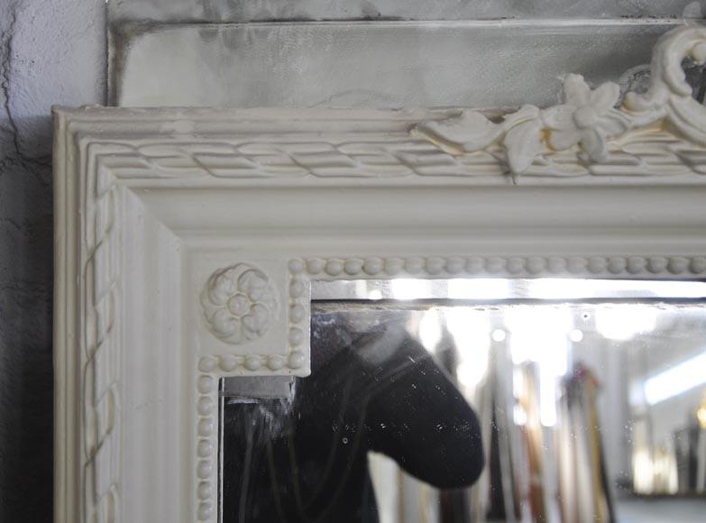 Trumeau ancien de style transition classique glaces for Miroir trumeau ancien