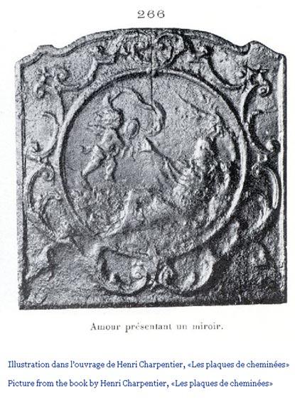 Plaque de chemin e du xixe si cle repr sentant v nus au for Venus au miroir