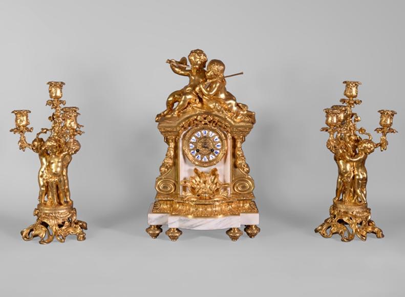Maison Deniere Garniture De Cheminee De Style Napoleon Iii En