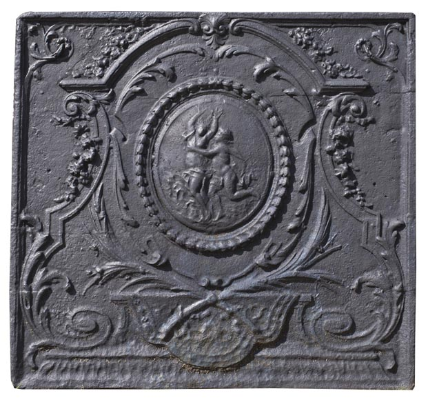 daphn et apollon plaque de chemin e ancienne de style louis xvi au d cor mythologique. Black Bedroom Furniture Sets. Home Design Ideas