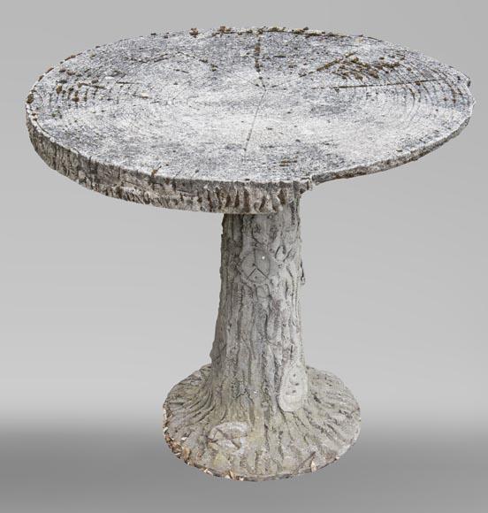 Table de jardin de style Rocaille de ciment, vers 1900 - Mobilier de ...