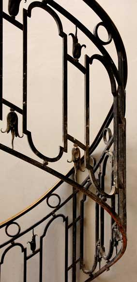 rampe d 39 escalier en fer forg avec main courante en laiton el ments architecturaux escaliers. Black Bedroom Furniture Sets. Home Design Ideas
