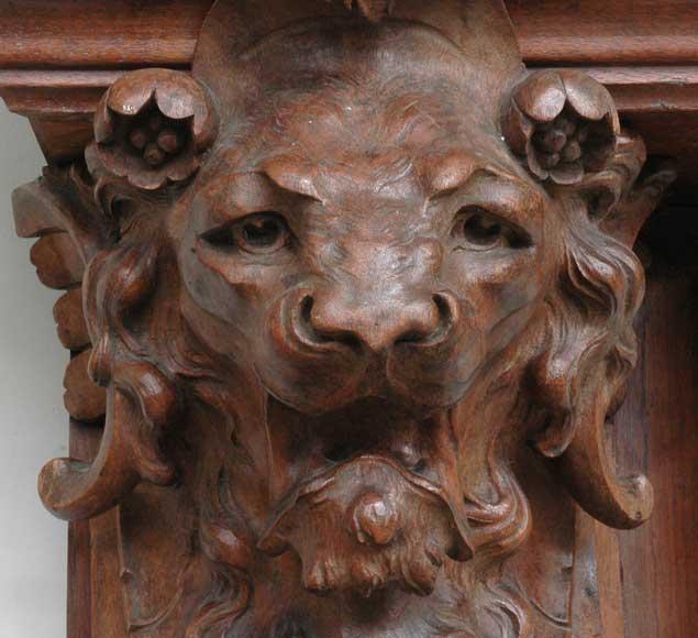 Chemin E Ancienne En Acajou T Tes De Lion Bois