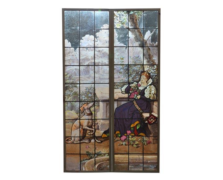 La ch telaine au l vrier double fen tre en vitrail for Fenetre en vitrail