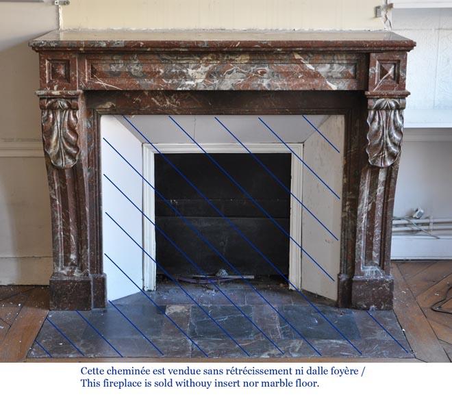 chemin e ancienne de style napol on iii en marbre rouge du nord marbre. Black Bedroom Furniture Sets. Home Design Ideas
