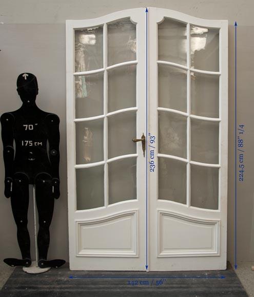 une double porte d 39 int rieur vitr e portes. Black Bedroom Furniture Sets. Home Design Ideas