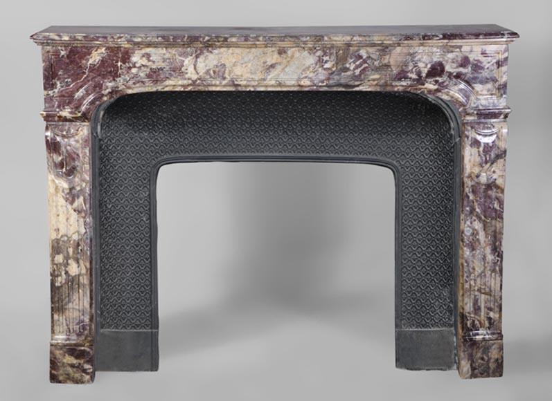 chemin e ancienne de style r gence en marbre fleur de p cher pieds consoles marbre. Black Bedroom Furniture Sets. Home Design Ideas
