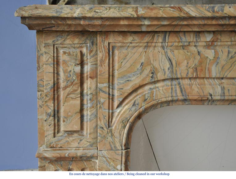 petite chemin e de style napol on iii en marbre rose gris marbre. Black Bedroom Furniture Sets. Home Design Ideas