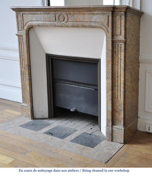 petite chemin e de style napol on iii en marbre rose gris. Black Bedroom Furniture Sets. Home Design Ideas