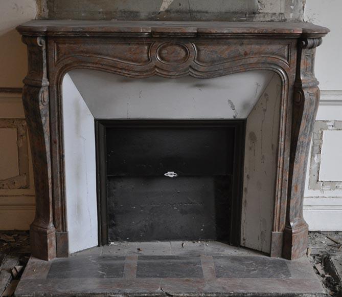 chemin e pompadour ancienne de style louis xv en marbre rose enjugerais marbre. Black Bedroom Furniture Sets. Home Design Ideas