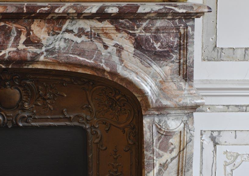 chemin e ancienne de style louis xiv en marbre vein rose et rouge marbre. Black Bedroom Furniture Sets. Home Design Ideas