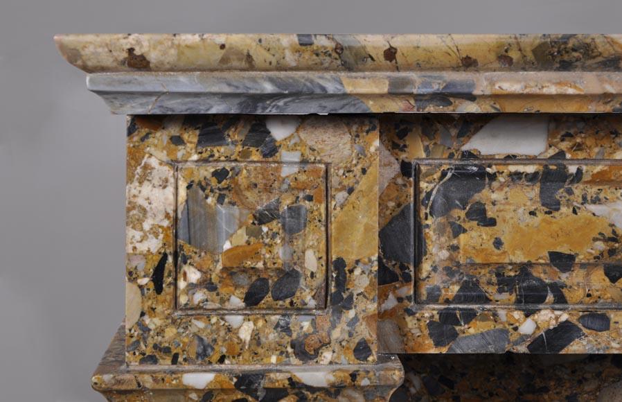 chemin e de style napol on iii en marbre br che de m dous d cor de pattes de lion marbre. Black Bedroom Furniture Sets. Home Design Ideas