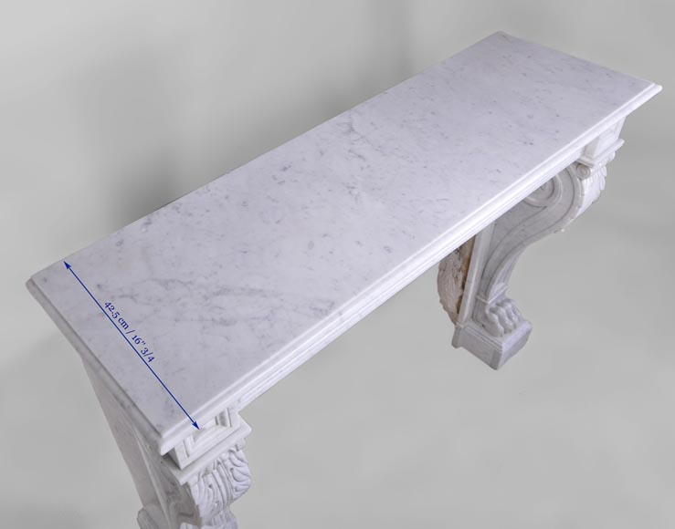 petite chemin e napol on iii en marbre blanc de carrare pattes de lions marbre. Black Bedroom Furniture Sets. Home Design Ideas