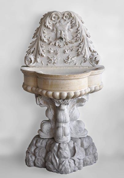 Antiquit s du jardin fontaines bassins et puits for Jardin xviiie siecle