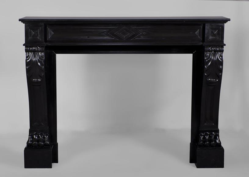 chemin e marbre noir. Black Bedroom Furniture Sets. Home Design Ideas