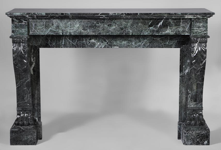 chemin e ancienne de style napol on iii pattes de lion en marbre vert de mer marbre. Black Bedroom Furniture Sets. Home Design Ideas