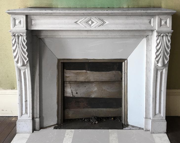 ancienne chemin e de style napol on iii en marbre de carrare marbre. Black Bedroom Furniture Sets. Home Design Ideas