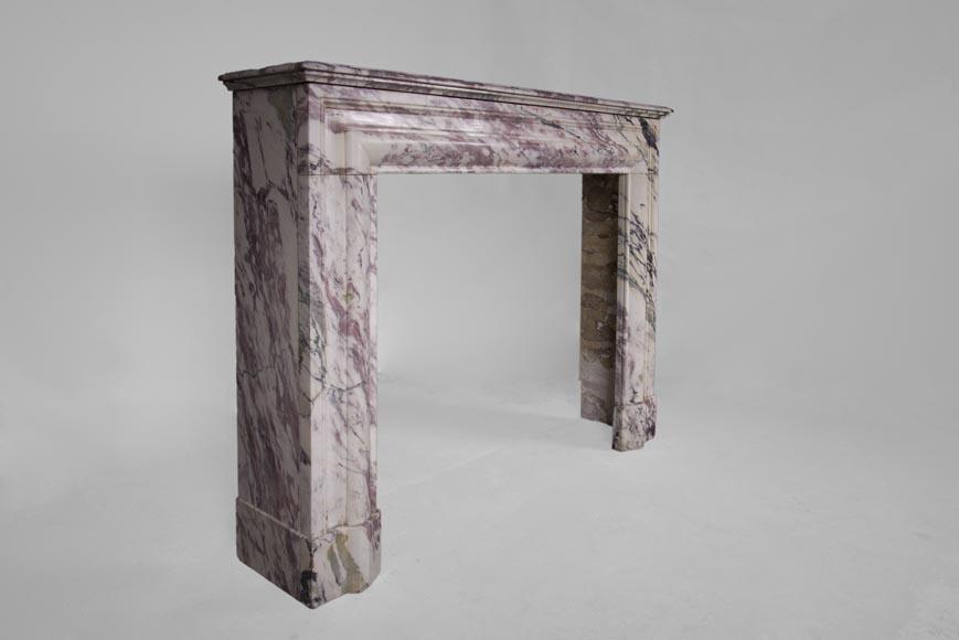 chemin e ancienne de style louis xiv en marbre rose vein marbre. Black Bedroom Furniture Sets. Home Design Ideas