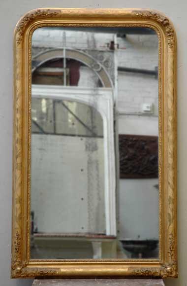 miroir ancien d cor de fleurs et glace au mercure glaces miroirs et trumeaux. Black Bedroom Furniture Sets. Home Design Ideas