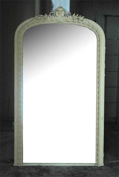 Miroir ancien de style louis xv d cor de coquille glaces miroirs et trum - Miroir de sorciere ancien ...