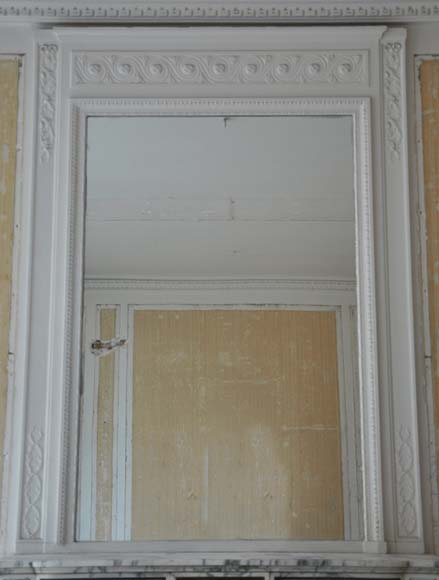 miroir de chemin e ancien de style louis xvi glaces. Black Bedroom Furniture Sets. Home Design Ideas