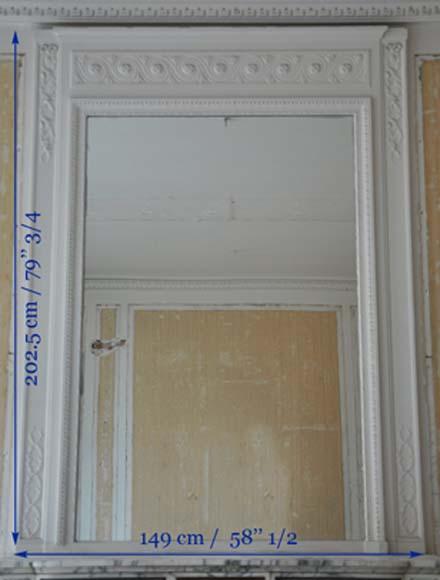 Miroir de chemin e ancien de style louis xvi glaces - Miroir de cheminee ...