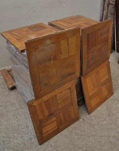 parquet ancien en noyer et en ch ne du xviii si cle. Black Bedroom Furniture Sets. Home Design Ideas