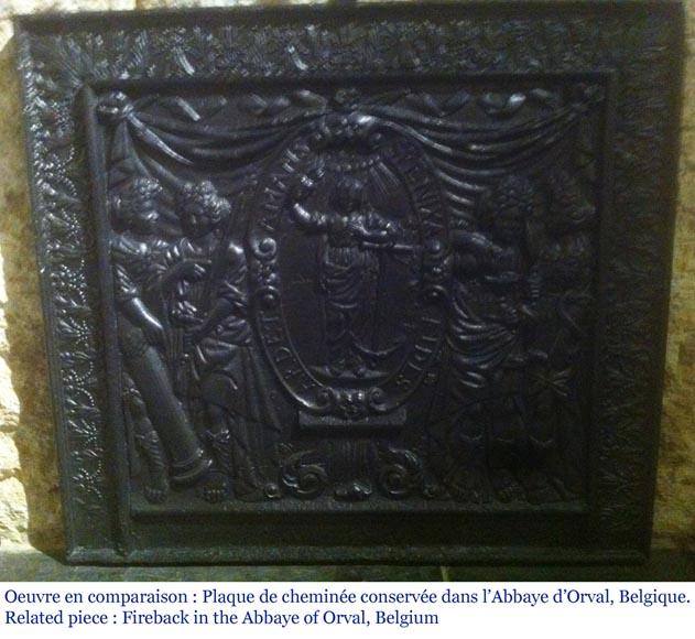 grande plaque de chemin e ancienne d cor jans niste. Black Bedroom Furniture Sets. Home Design Ideas