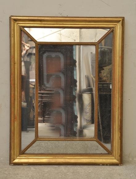 miroir ancien parecloses de style napol on iii d cor de perles r. Black Bedroom Furniture Sets. Home Design Ideas