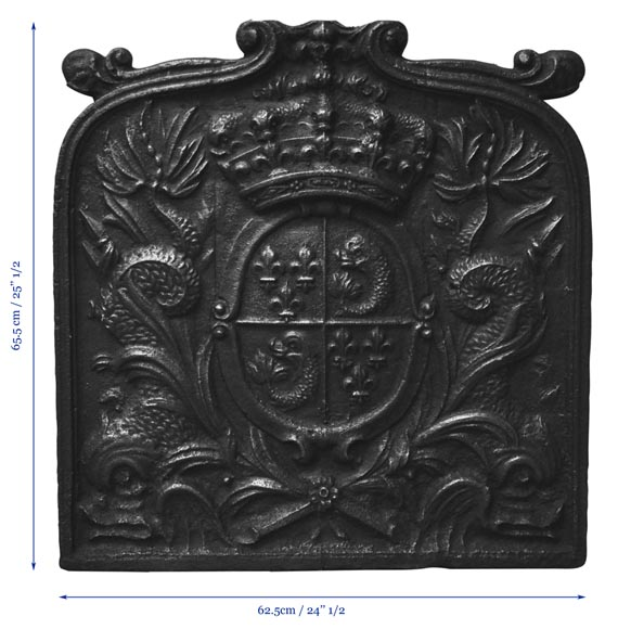 plaque de chemin e ancienne du xviii si cle aux armes du dauphin de france plaques de chemin e. Black Bedroom Furniture Sets. Home Design Ideas