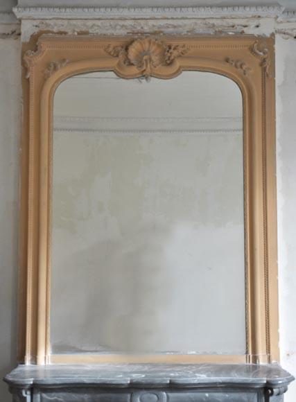 trumeau ancien de style louis xv la coquille glaces miroirs et trumeaux. Black Bedroom Furniture Sets. Home Design Ideas