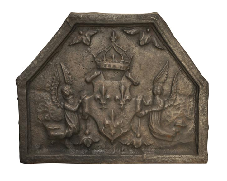 plaque de chemin e ancienne du xvii si cle aux armes de france plaques de chemin e. Black Bedroom Furniture Sets. Home Design Ideas