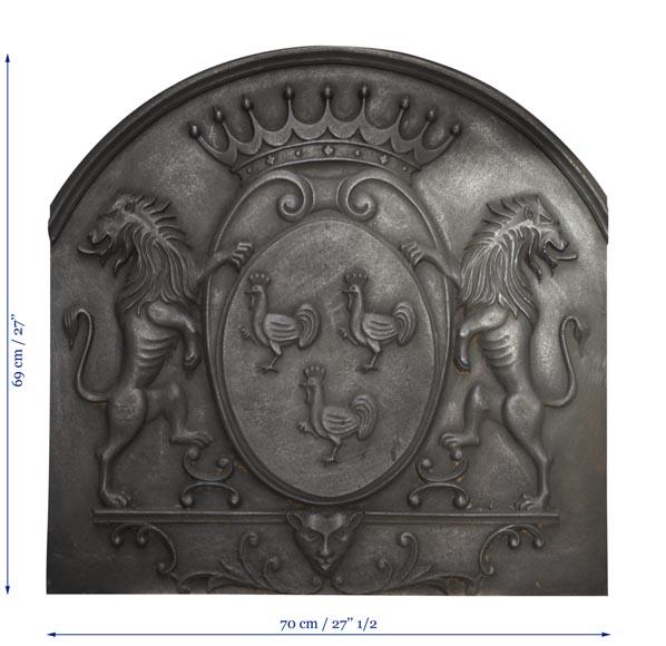Plaque De Chemin E D Cor De Coqs Et De Lions Plaques