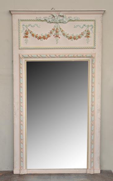 Trumeau ancien de style louis xvi d cor de stuc for Prix miroir ancien