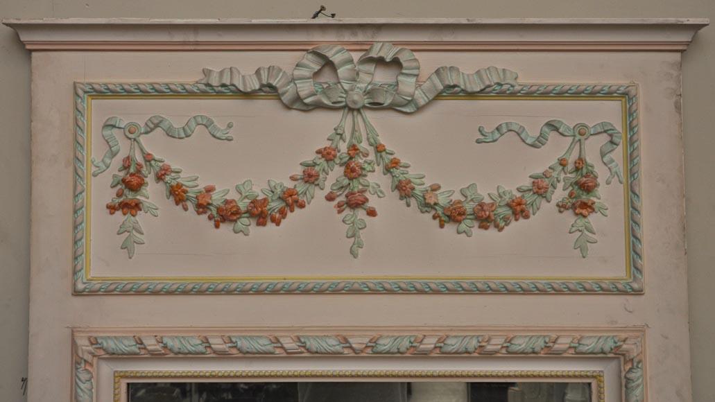 Trumeau ancien de style louis xvi d cor de stuc for Miroir trumeau ancien